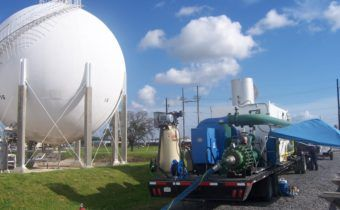 Chevron Sphere Tank Degas | Envent Corporation